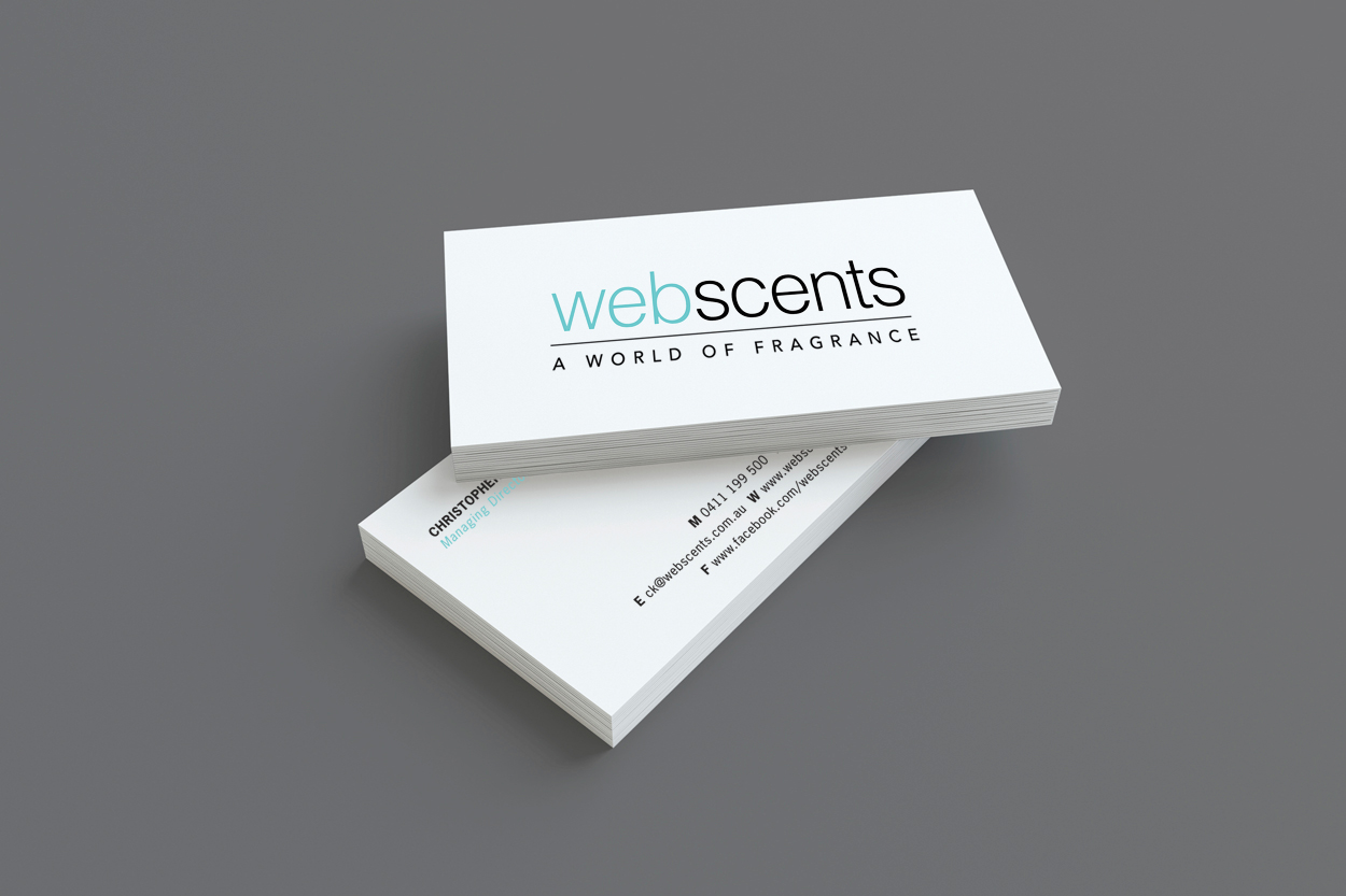 Webscents Logo Business Card Website